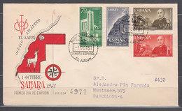 Sahara Sobres 1� D�a 1961 Edifil 193/6 - Spanische Sahara