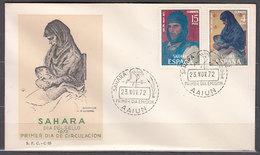 Sahara Sobres 1� D�a 1972 Edifil 308/9 - Spanische Sahara