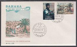 Sahara Sobres 1� D�a 1973 Edifil 312/3 - Spanische Sahara