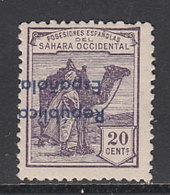 Sahara Variedades 1932 Edifil 39Bhcci * Mh  Sobrecarga Invertida Y Cambio De Col - Spaanse Sahara