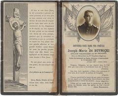 Image Religieuse  Deces Militaire  Joseph-marie  De Buynicki   1916 - Images Religieuses