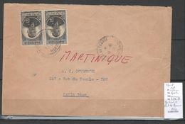 Martinique - Lettre De Fort De France - 1946 - Yvert 218 - Eboué - Cartas