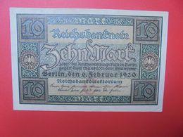 Reichsbanknote 10 MARK 1920 G CIRCULER (B.15) - 10 Mark