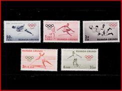 Ruanda 0219/23*  Jeux Olympiques De Rome H - 1948-61: Mint/hinged