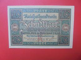 Reichsbanknote 10 MARK 1920 K CIRCULER (B.15) - 10 Mark
