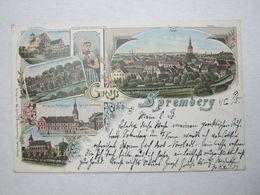 SPREMBERG , Seltene Karte Um 1898 - Spremberg