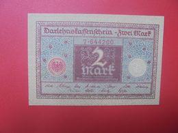 """Darlehenskassenschein 2 MARK 1920 """"GRAUBLAU""""  CIRCULER (B.15) - 2 Mark"""