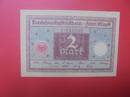 "Darlehenskassenschein 2 MARK 1920 ""GRAUBLAU""  CIRCULER (B.15) - [ 3] 1918-1933 : República De Weimar"