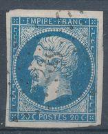 N°14 VARIETE SANS FILET ET OBLITERATION. - 1853-1860 Napoléon III