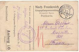 CPFM Prisonnier Français Amberg 1915 - Guerre De 1914-18