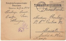 CPFM Prisonnier Français Bautzen 1918 - Guerre De 1914-18