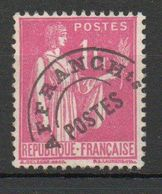 Préo N°76 - Type Paix 1f Rose Oblitéré - Préoblitérés