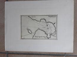 PLAN DE LA VILLE DU PORT SIAGI CHINA CHINE AFMETINGEN 19 CM OP 12,50 CM C.1804 - Maps