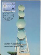 Carte Maximum PORTUGAL N°Yvert 1190 (COMMUNICAtions - Satellites) Obl Sp 1977 - Cartoline Maximum