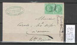 France  Lettre De Castets Des Landes Pour Arreau - Tarif Lettres Ouvertes à 10 Centimes - Yvert 43 X 2 - 1849-1876: Periodo Clásico