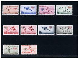 CONGO BELGE  -  RUANDA URUNDI - Giochi Olimpici 1960  - ROMA - Verano 1960: Roma