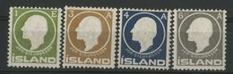 "ISLANDE ICELAND COTE 15 € N° 62 à 65 Neufs * (MH). ""Jon . SIGURDSSON"" Impression En Relief - Nuevos"