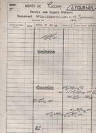 SNCF:DÉPOT DE CAEN.SERVICE DES ENGINS MOTEURS.ROULEMENT DU 16-1-1972. - Vieux Papiers