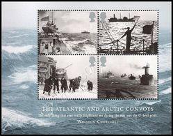 Gran Bretagna / Great Britain 2013: Foglietto Convogli Atlantici E Artici / Atlantic And Arctic Convoys S/S ** - WW2