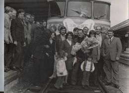 PHOTO DE PRESSE:SNCF.DÉPOT DE CAEN.DÉPART À LA RETRAITE.PHOTO HENRY LAIR. - Métiers