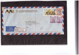 634  -   REGISTERED AIR MAIL COVER WITH INTERESTING POSTAGE - Tailandia