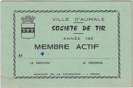 Carte De Visite  76 Aumale  Societe De Tir - Cartes De Visite