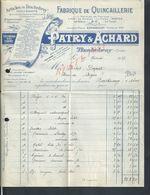FACTURE ILLUSTRÉE DE 1936 PATRY & ACHARD QUINCAILLERIE ARTICLE DE TINCHEVRAY À TIRCHEBRAY ORNE : - Polizei
