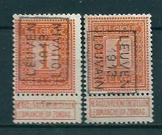 2158 Voorafstempeling Op Nr 108 - LEUVEN 1913 LOUVAIN - Positie A & B - Préoblitérés