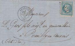 France Alsace Lettre Beaucourt Cachet Type 17  1870 - Marcofilia (sobres)