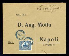 HAITI - Cover Sent From Haiti Via New York To Napoli/Italy 1910. Arrival Cancel On The Back. - Haiti