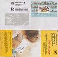 Deutschland: BRD 2008, Einschreibmarke E1 Gebraucht Incl. Kartonstreifen. Bedarfsbrief Von 2020 - BRD