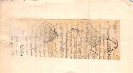 1 Cachet Généralité De Bourges Douze Sols    Sur Fragment Parchemin 1784 - Cachets Généralité