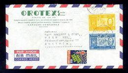 VENEZUELA - Envelope For Air Mail Sent From Venezuela To Wien/Austria. Header On Envelope 'OROTEX'. Nice Two Colored Fra - Venezuela