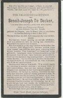 BP De Decker Benoit Joseph (Idegem 1891 - Geraardsbergen 1917) - Collections