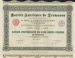 Société Auxiliaire De Trémuson - Actions & Titres