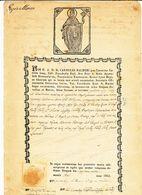 1855 TRAPANI BEL DOCUMENTO PARROCCHIALE SAN NICOLA - Vecchi Documenti