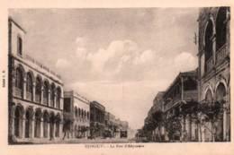 CPA - DJIBOUTI - LA RUE D'ABYSSINIE - Edition G.B. - Dschibuti