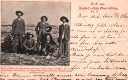 CPA - GRUSS Aus DEUTSCH-SÜD-WEST AFRIKA - COLONS ( Colonie Allemande Entre 1884 Et 1915) EX-NAMIBIE - Edit. K.Ledermann - Namibia
