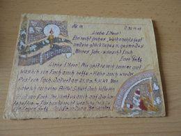 Weihnachtskarte Eines Deutschen Soldaten Aus Dem Gefangenlager CCCP 1947 - Documenti