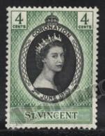 St Vincent 1953 Yvert 169, Royalty. Queen Elizabeth Coronation - MNH - St.Vincent (1979-...)