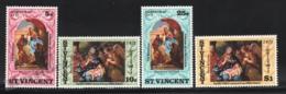 St Vincent 1971 Yvert 302-05, Christmas. Art. Nativity Scenes Paintings, Virgin Mary & Child - MNH - St.Vincent (1979-...)