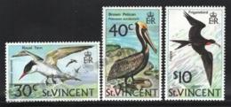 St Vincent 1974 Yvert 361-63, Definitive Set, Fauna. Birds. Tern, Pelican & Frigatebird - MNH - St.Vincent (1979-...)