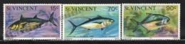 St Vincent 1976 Yvert 451-53, Definitive Set, Fauna. Fishes - MNH - St.Vincent (1979-...)