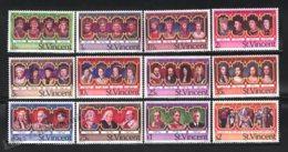 St Vincent 1977 Yvert 458-69, Royalty. British Kings & Queens. Queen Elizabeth Silver Jubilee - MNH - St.Vincent (1979-...)