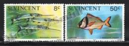 St Vincent 1977 Yvert 496-97, Definitive Set. Fauna. Fishes - MNH - St.Vincent (1979-...)