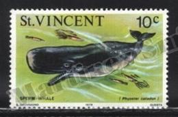 St Vincent 1978 Yvert 505, Definitive Set. Fauna. Marine Life, Aquatic Mammals, Sperm Whale - MNH - St.Vincent (1979-...)