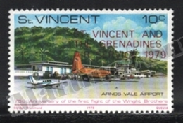 St Vincent 1979 Yvert 537, Planes. Arnos Vale Airport, Airplane - Overprinted - MNH - St.Vincent (1979-...)