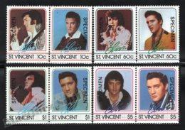 St Vincent 1985 Yvert 870-77, Music. Famous People. Rock & Roll Singer, Elvis Presley - Specimen Overprinted - MNH - St.Vincent (1979-...)