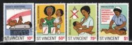 St Vincent 1987 Yvert 983-86, Health. Children. Child Survival Campaign - MNH - St.Vincent (1979-...)