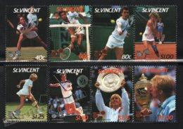 St Vincent 1987 Yvert 987-94, Sports. Tennis, Players - MNH - St.Vincent (1979-...)